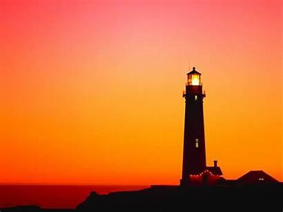 Lighthouse Desktop Sunset Wallpapers Screensavers Lighthouses Fall