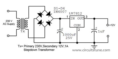 Wiring Diagram Ref Fixed Voltage Power Supply Circuit