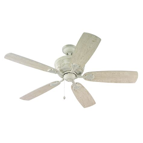 antique white ceiling fan with light shop harbor breeze lilly ray 52 in antique white downrod
