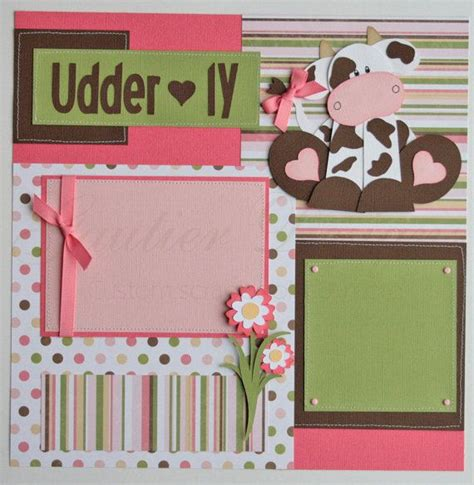 Baby Girl Scrapbook Page Layout
