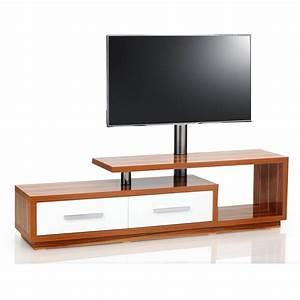 Meuble Tv Design 170cm Bois Blanc NATURA 170H IPW Premium