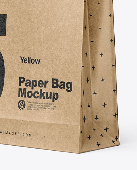Check them out and download the one's you like. Kraft Paper Shopping Bag Mockup - Half Side View in Bag ...
