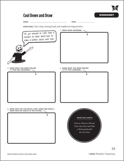 Cool Down And Draw Worksheet  Part Of Mindful Practices' Newest Book 'cooling Down Your