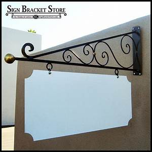 Wrought Iron Sign Brackets & Wall Mount Sign Holders
