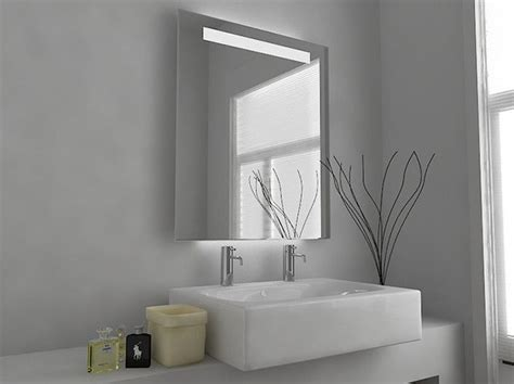 Small Illuminated Bathroom Mirrors by Callass Fluorescent Illuminated Mirror With Sensor