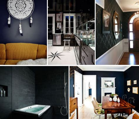 Dark & Dramatic Design 16 Bold Black Room Interiors