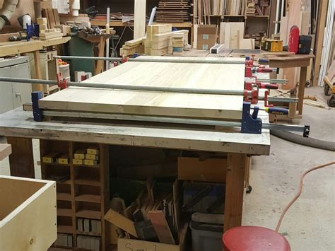 ana white  truss beam table bench diy projects