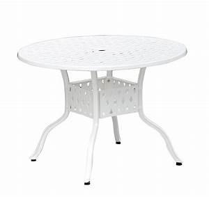 Tisch Rund 120 Cm : inko nexus weiss tisch 120 cm rund batavia gartenm bel onlineshop f r hochwertige gartenm be ~ Indierocktalk.com Haus und Dekorationen
