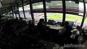 nfl time lapse in the cbs sports broadcast booth