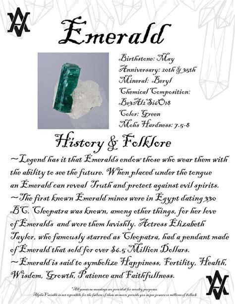 emerald crystal gemstone info crystals gemstones