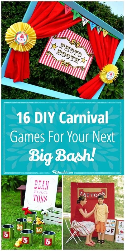 16 Diy Carnival Games For Your Next Big Bash  Party Ideas