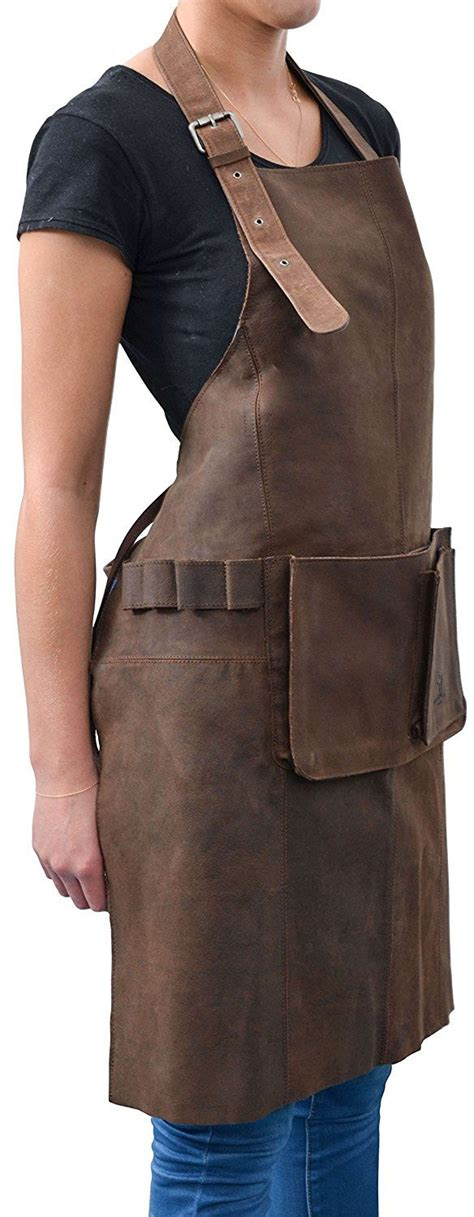 tenue de cuisine femme gusti cuir studio quot sander quot tablier en cuir tenue de
