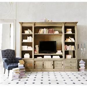 Meuble Bibliothèque Bois : meuble tv biblioth que design en 50 id es inspirantes ~ Teatrodelosmanantiales.com Idées de Décoration