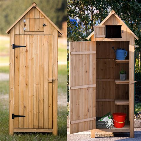 small wood shed fir wood arrow shed with single door wooden live garden