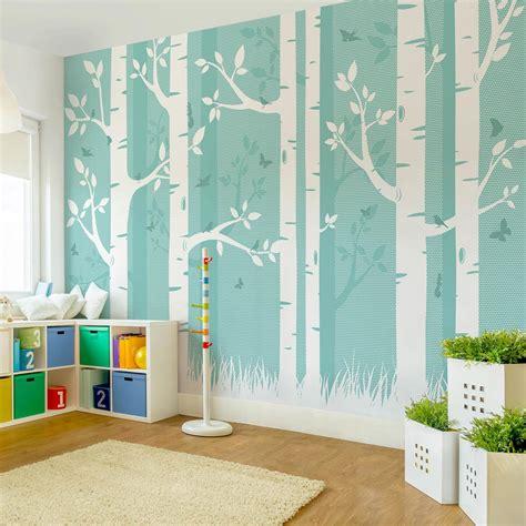 Kinderzimmer Tapete Gestalten by Kinderzimmer Waldtapete