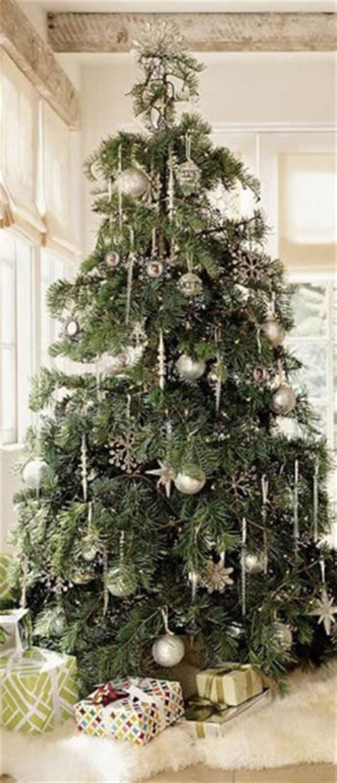 white furry fluffy christmas trees silver tree ornaments with big fluffy fur tree