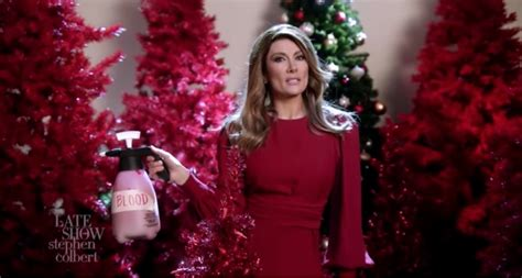 stephen colberts delightful melania trump christmas