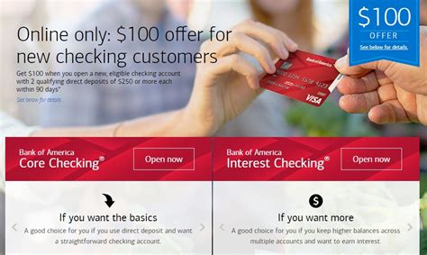 Check spelling or type a new query. Bank of America, $100 Checking Account Bonus Available Nationwide - Miles to Memories