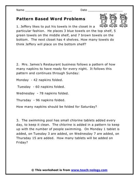grade 8 math worksheets patterning patterns worksheets
