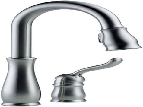 quot delta faucet 9178 ar dst leland single handle pull down
