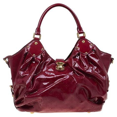 louis vuitton cerise monogram patent leather surya  bag