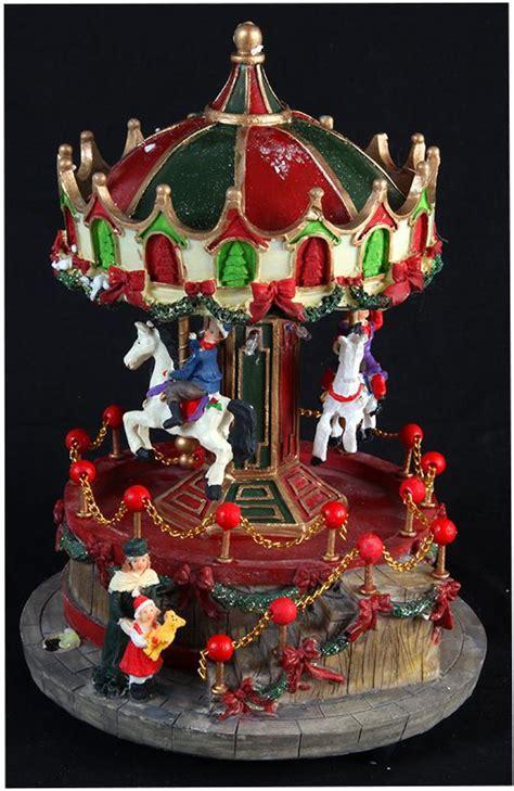 traditional xmas model revolving carousel cm led