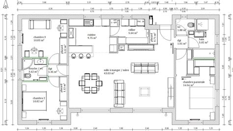 plan de maison contemporaine 4 chambres plan maison 4 chambres 130m2