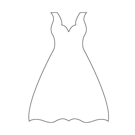 dress template dress form outline www imgkid the image kid has it