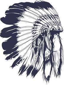 Indian Chief Headdress Tattoo