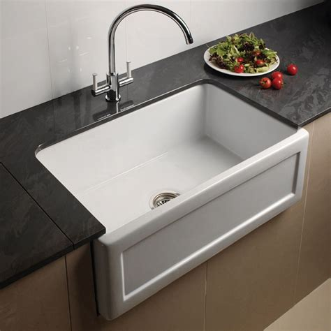 Kitchen Sinks Uk by Astini Belfast 760 1 0 Bowl Recessed White Ceramic Kitchen
