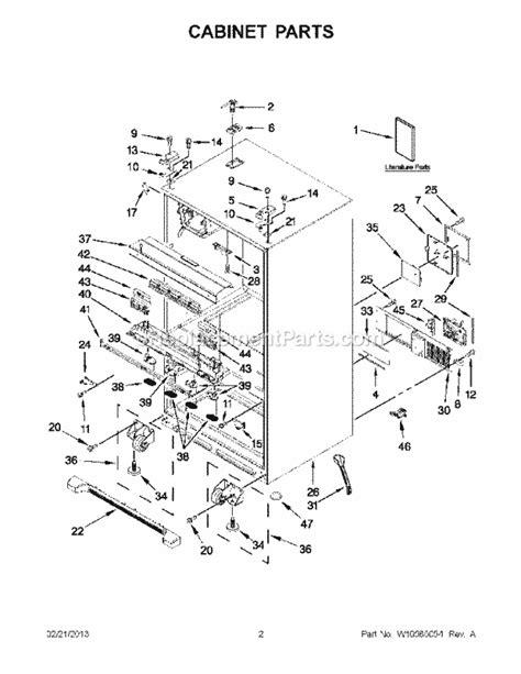 whirlpool wrx735sdbm00 parts list and diagram ereplacementparts