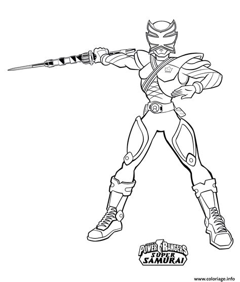 coloriage power rangers super samurai dessin