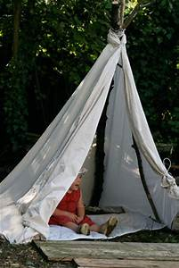Fabriquer Tipi Enfant : fabriquer un tipi et un brumisateur de jardin avec quelques vieilles branches dans ma tribu ~ Voncanada.com Idées de Décoration