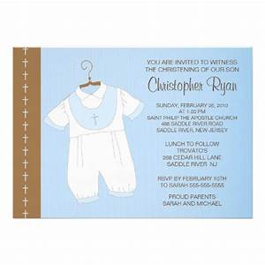 Baby Boy Baptism Invitations : Baby Boy Christening ...