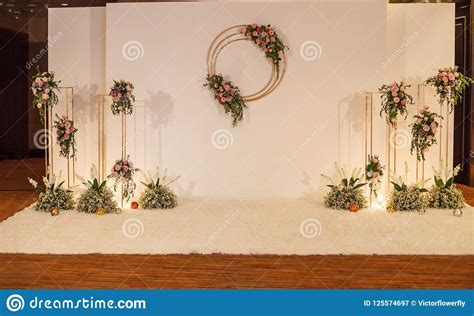 white floral wedding backdrop background wedding ceremony