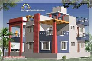 Duplex House Plan and Elevation - 2349 Sq Ft Indian