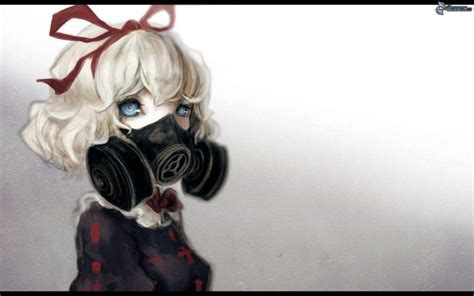 anime characters wear gas masks anime amino