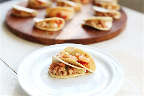 canapes with prawns mini tacos shrimp canapés recipes the tortilla channel