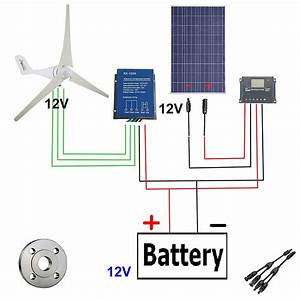 Buy 500w Wind Solar Power Ac 12v 400w Wind Turbine