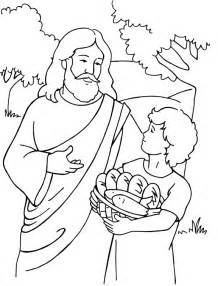 coloring page of jesus feeding the 5000 collections