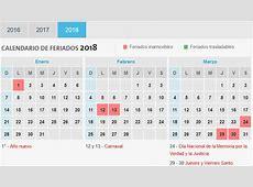 Calendario 2018 con Feriados de Argentina Calendario 2018
