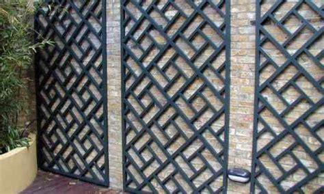 painted classic bespoke trellis panels wooden fence trellis panels essex uk  garden