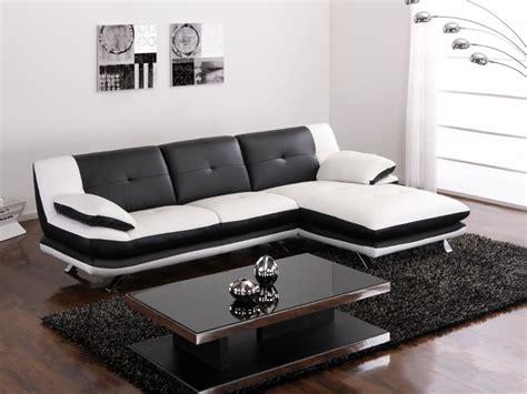 photos canapé noir et blanc