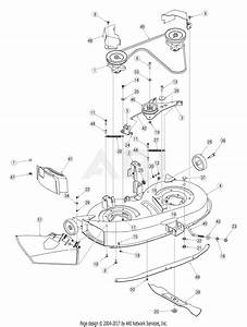 Mtd 13a1760f700  2005  Parts Diagram For Deck Assembly F