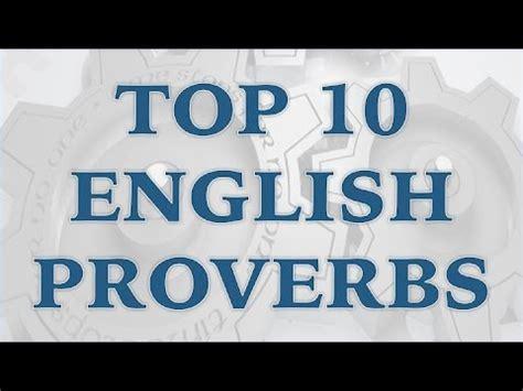 Top 10 English Proverbs Youtube