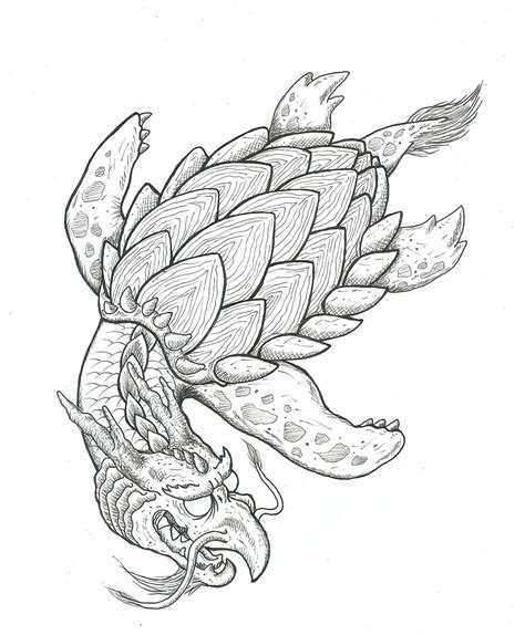 japanese dragon turtle tattoo concept sketch japanese tattoo ideas tiger tattoo japanese