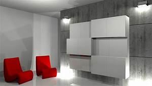 Porte Tv Mural : prix porte coulissante placard 15 projet de cr233ation de mobilier contemporain rangement ~ Teatrodelosmanantiales.com Idées de Décoration