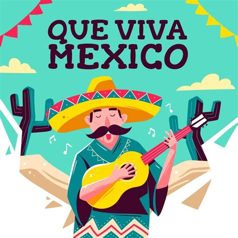 Mexico independence day drawing | Free Vector