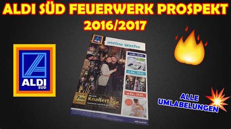 Aldi SÜd Feuerwerk Prospekt 2016/2017