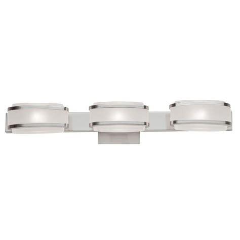 Halogen Bathroom Light Fixtures by Filament Design 3 Light Wall Brushed Nickel Halogen